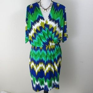 Calvin Klein Plus Size Green Dress Size 16